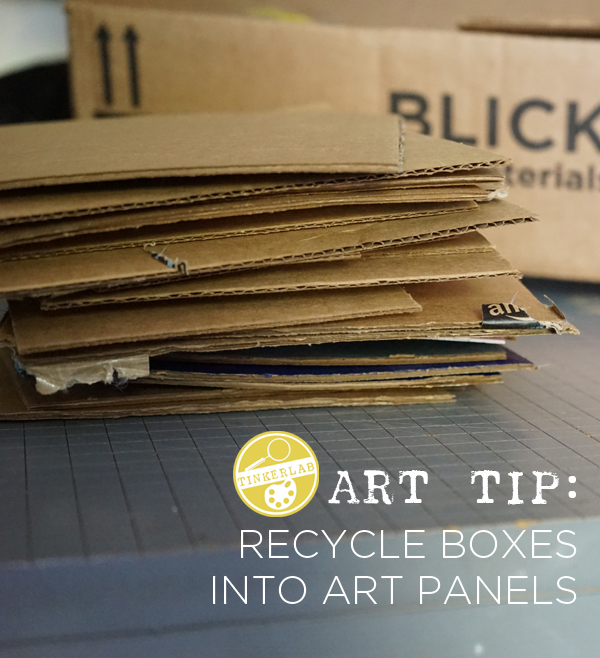 Art tip: Save cardboard pieces for art making | TinkerLab