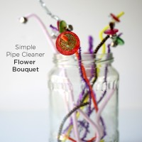 Simple Pipe Cleaner Flower Bouquet | Easy Craft for Kids