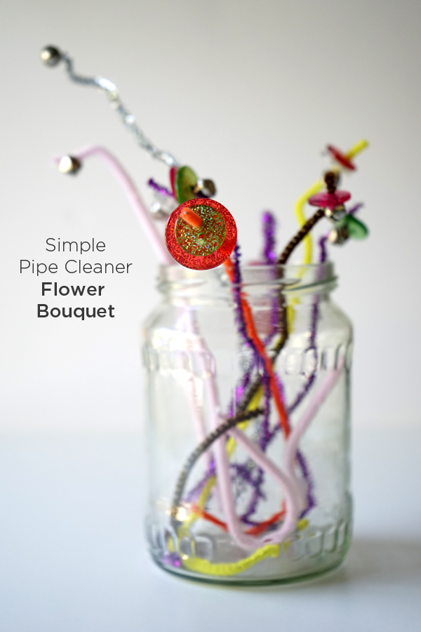 Simple Pipe Cleaner Flower Bouquet | Easy Crafts for Kids