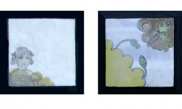 black frame paintings