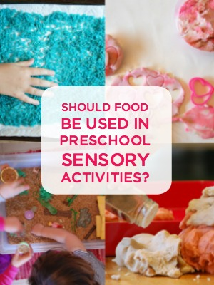 food preschool sensory activity