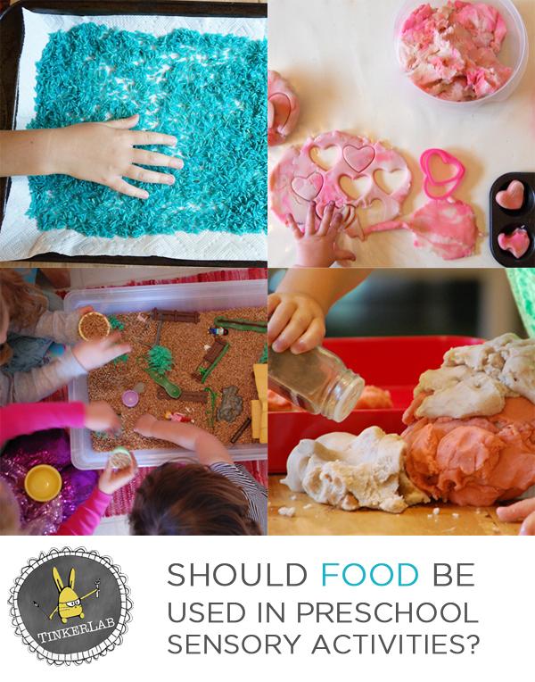 Should food be used in preschool sensory activities? | TinkerLab.com