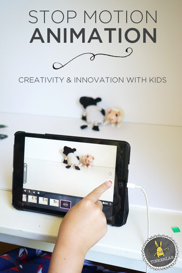 This Stop Motion Animation project is so easy to set up, and a great way to encourage STEAM concepts with kids | TinkerLab.com