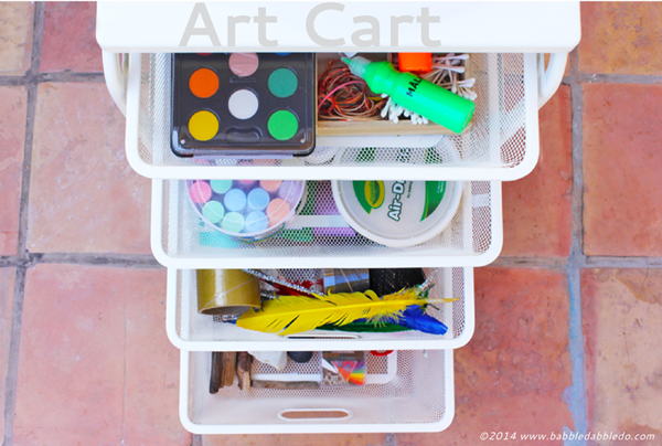 How to Organize art supplies | Babble Dabble Do | TinkerLab.com