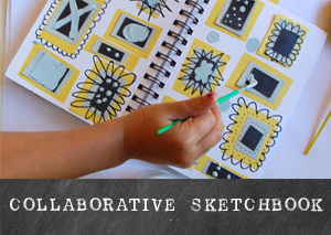 Collaborative Sketchbook | TinkerLab.com