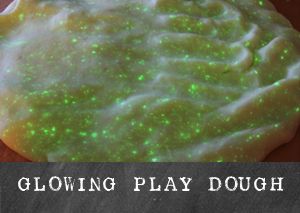 Glowing Play Dough | TinkerLab.com