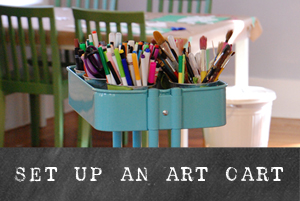 How to Set up an Art Cart | TinkerLab.com