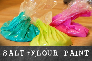 salt and flour paint | TinkerLab.com