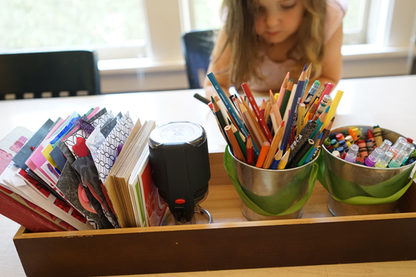 Letter Writing Station | A Simple Creative Table Invitation | TinkerLab.com