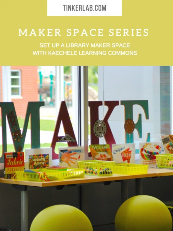 Set up a library maker space with tips from Kaechele Learning Commons