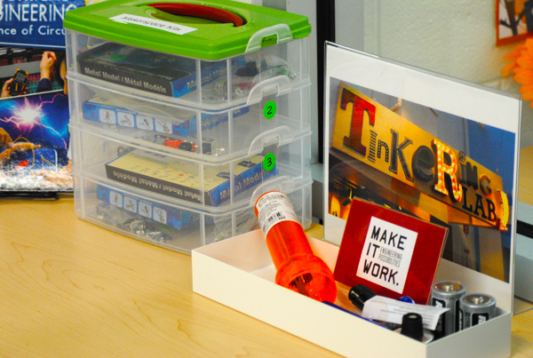 Library Maker Space | Kaechele Learning Commons | TinkerLab.com