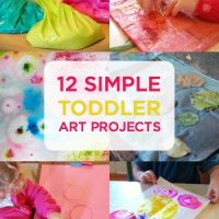 12 Simple Toddler Art Projects