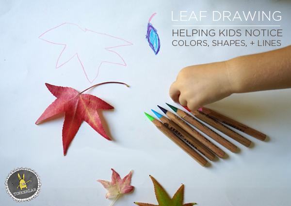 Fall Craft Ideas Leaf Drawing Tinkerlab