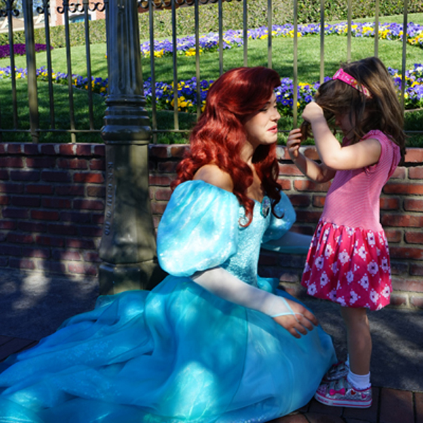 Ariel at Disneyland | TinkerLab.com