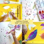 Fall Craft Ideas: Paint Coffee Filter Suncatchers