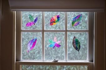 A Fall Art Invitation: Coffee Filter Leaf Sun Catchers