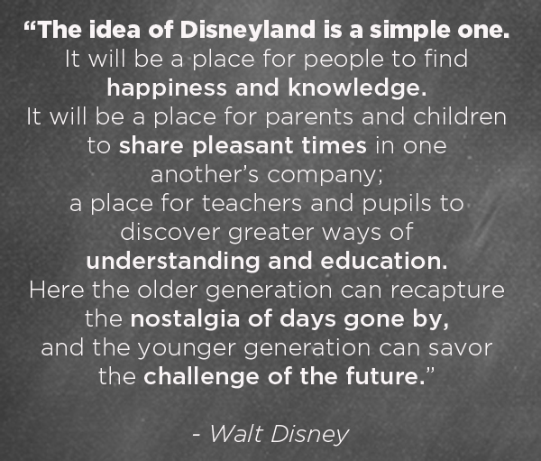 The idea of Disneyland | TinkerLab.com