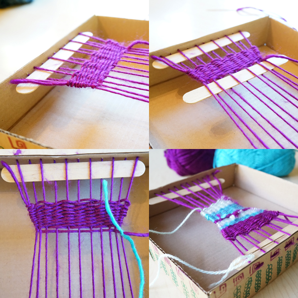 Easy box loom weaving for kids | TinkerLab.com