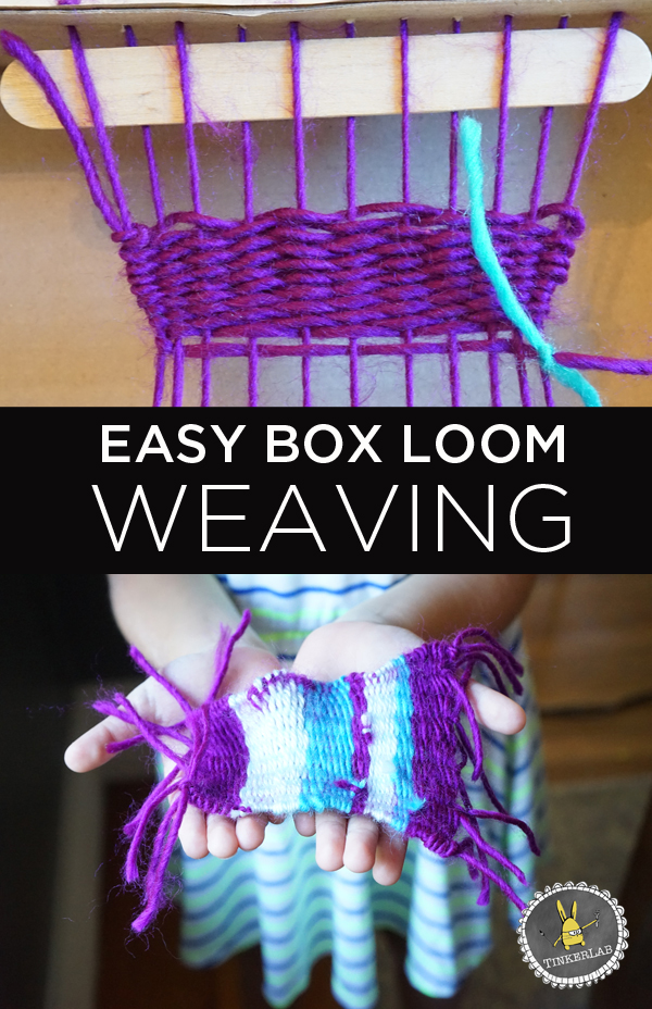 How to make a simple box loom weaving tinkerlab for How to make easy crafts step by step