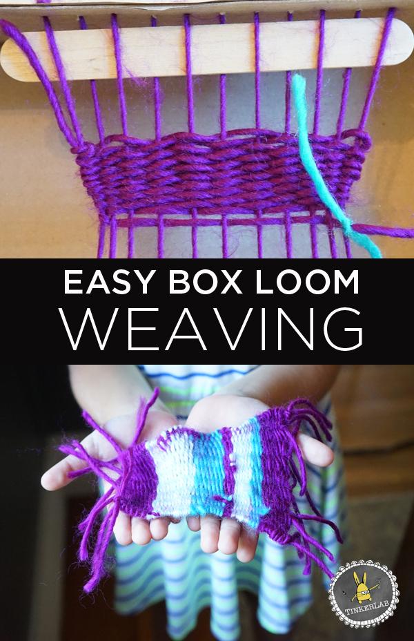 Easy box loom weaving for kids | TinkerLab.com