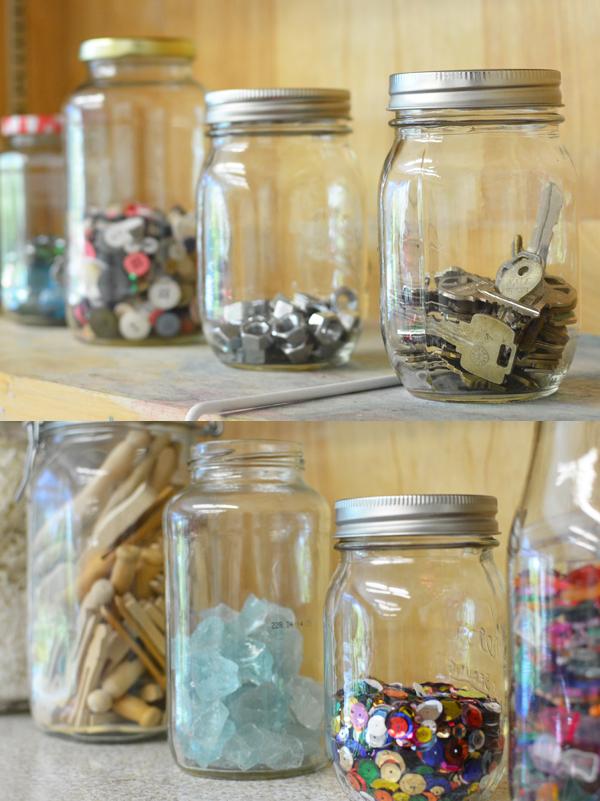 Meri Cherry Jar Organization | TinkerLab.com