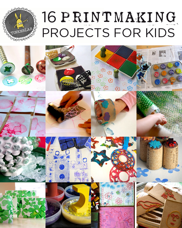 16 Easy Printmaking Projects for Kids | TinkerLab.com