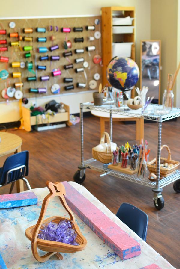 Reggio Art Classroom | Meri Cherry on TinkerLab.com