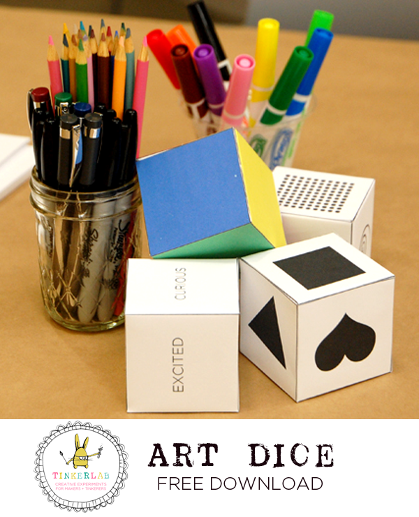 Art Dice TinkerLab Free Download | TinkerLab.cm
