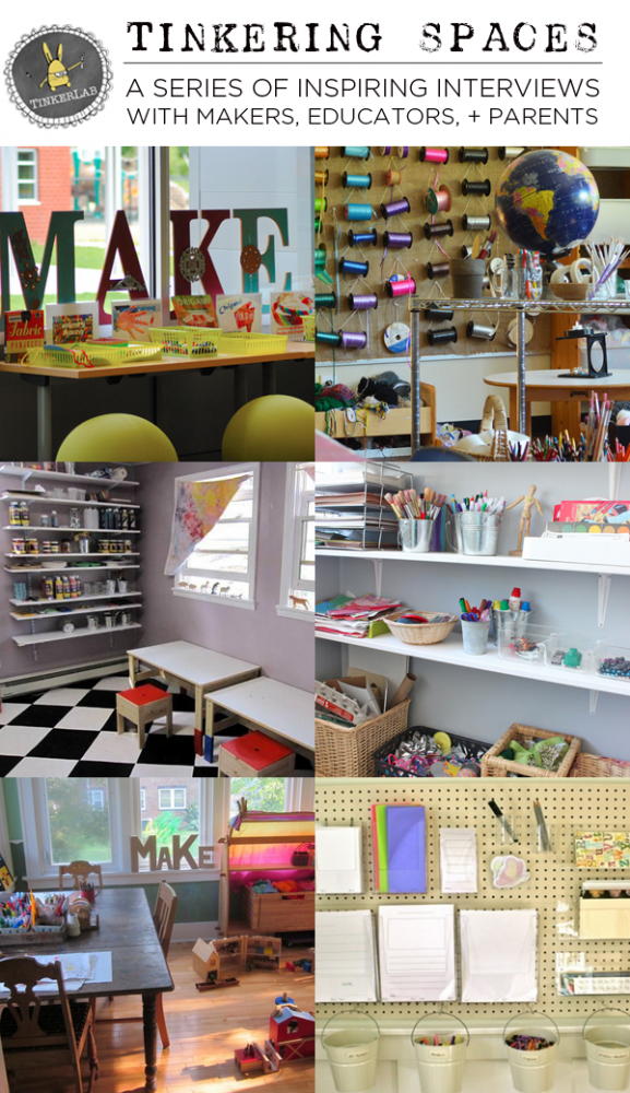 Tinkering Spaces: A Series of Informative and Inspiring makerspace tours and Interviews with Makers, Educators, and Parents| TinkerLab.co