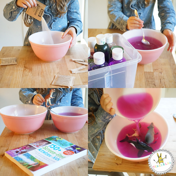 Play with Gelatin | from 150+ Screen-free Activities for Kids