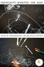 Art Prompts | White Drawings on Black Paper