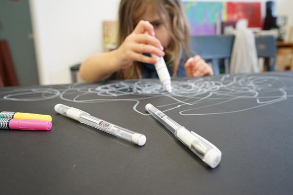 Art Prompts: White Marker on Black Paper Creativity Prompt | TinkerLab.com