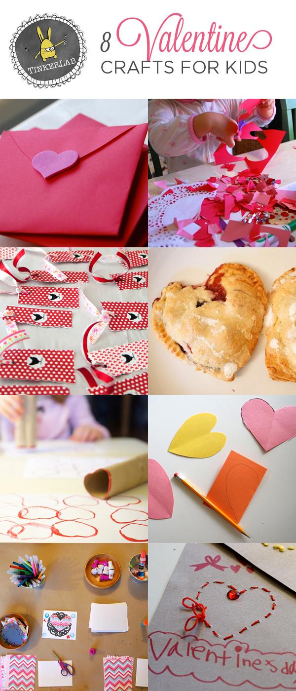 8 Valentine Crafts for Kids | TinkerLab