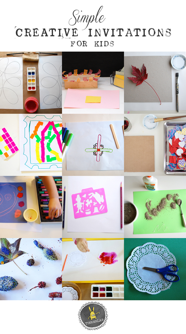 Simple Creative Invitations | Creativity for Kids | TinkerLab.com
