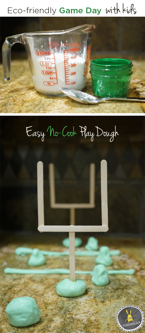 Whip up a batch of easy, no-cook playdough for game day to help little ones experience the game through imaginative play @TRESemmé