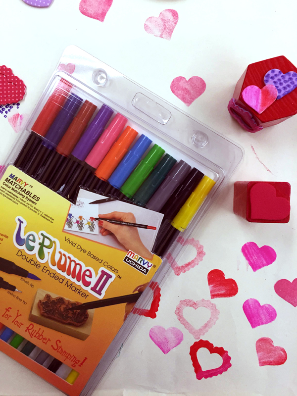 Foam Sticker Crafts - Our favorite Marvy Le Plume II pens for coloring on stamps  |  TinkerLab.com
