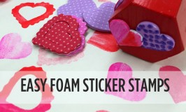 Foam Sticker Crafts - How to make these easy foam sticker stamps | TinkerLab.com