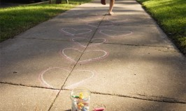 Valentine Activity | Heart Hopscotch | TinkerLab.com