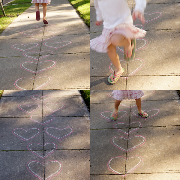 Valentines Day Activity | Heart Hopscotch | TinkerLab.com