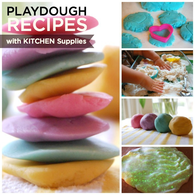 playdough recipes with kitchen supplies