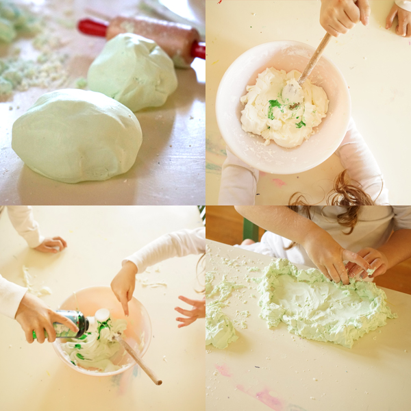 Just 2 Ingredients!! DIY Stretchy Hair Conditioner Playdough | TinkerLab.com