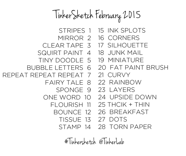 Printable TinkerSketch Sketchbook Challenge Prompts