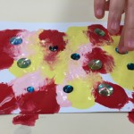 The Cling Film Art Experiment with Jewels | TinkerLab.com