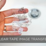 Super easy clear tape transfer technique | TinkerLab.com