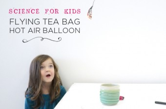 Flying tea bag hotair balloon experiment| Kid Science
