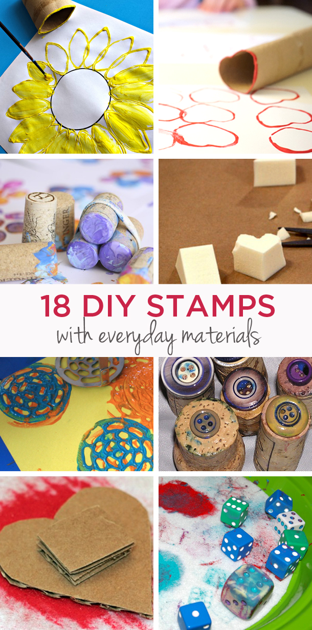 DIY Homemade stamps with foam