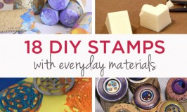 Homemade stamps with everyday materials | TinkerLab.com