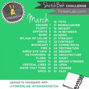Sketchbook challenge from TinkerLab.com