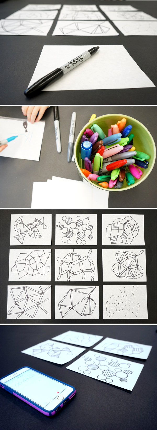 Drawing Ideas: Make one minute drawings to spark creativity