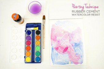 Rubber Cement Watercolor Resist Painting Technique, perfect for art journaling and sketchbooks